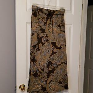 Paisley full skirt w/lining